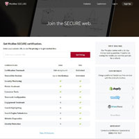 McAfee SECURE image